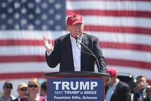 Trump durante la campaña que lo convirtió en presidente de Estados Unidos.